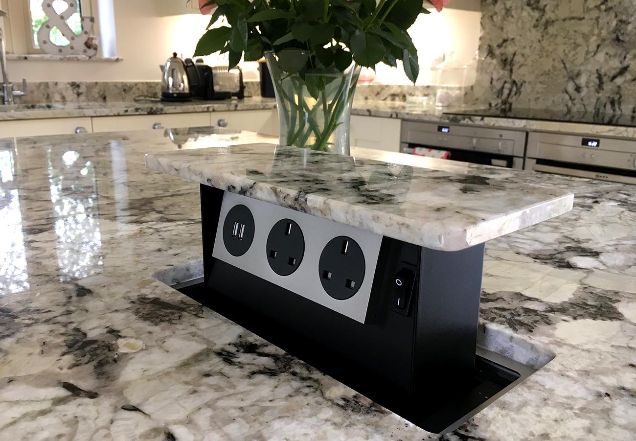 S-Box Hidden counterpop-up Socket-Pop Up Prise électrique Socket Full Kit Neuf
